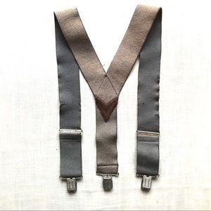 Vintage distressed suspenders
